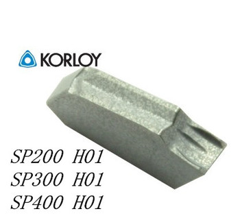 Original quality KORLOY 10pcs/set SP300 H01 CNC Carbide aluminum cutting blade for insert SPB 32-3 Turning tool