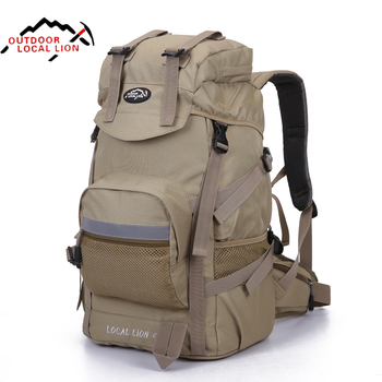 Local Lion Outdoor Camping Bag Waterproof Ultralight Hiking Internal Frame Backpack Men Rucksack 50*24*35cm