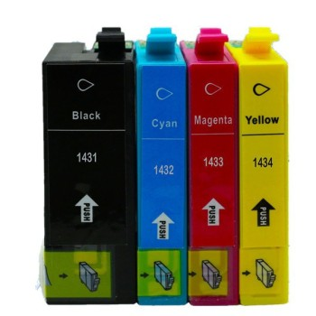 Replacement 2 Set T1431 E-1431 T1434 Ink Cartridges For Epson Workforce WP-7511 WP-7521 WF-3011 WF-3521 WF-3531 WF-3541