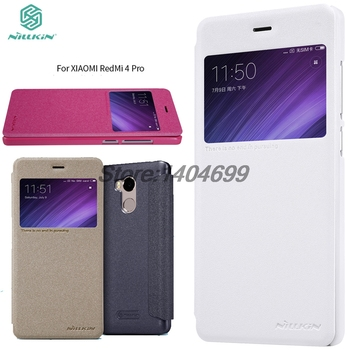 Xiaomi Redmi 4 PRO Flip Case Xiaomi Redmi 4 PRO Case Nillkin Sparkle PU Leather Cover Case For Xiaomi Redmi 4 PRO With Window