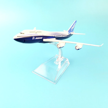 747 BOEING METAL ALLOY MODEL PLANE AIRCRAFT MODEL TOY BIRTHDAY GIFT DECORATIONS  DESK TOY 16CM