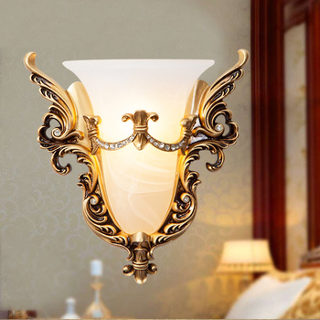 Wall Bedroom Bedside Lamp Gold Belt Living Room Tv Background Wall Retro Wall Lamp LED Wall Light