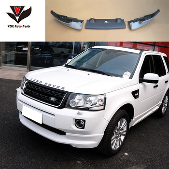 3PCS/SET 2010-2016 Freelander 2 ABS Plastiko Unpainted Bamperio Lip for Land Rover Freelander 2