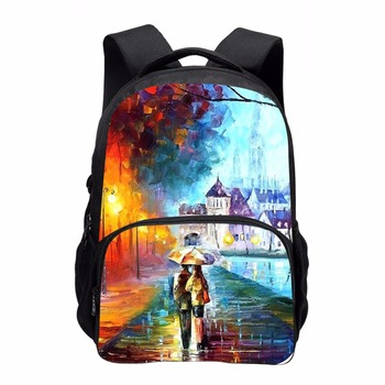 3D printing custom backpack men multi - functional fashion cool large capacity backpack college tide bag traveling backpack
