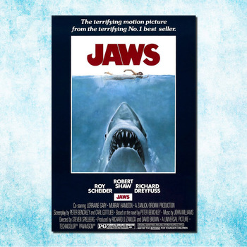 Jaws 1 2 3 Hot Movie Art Silk Canvas Poster Print 13x20 24x36 inch Picture For Room Decor (more)-1